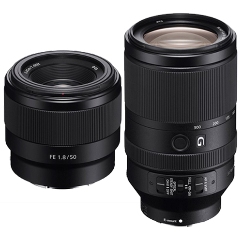 sony-fe-50mm-and-70-300mm
